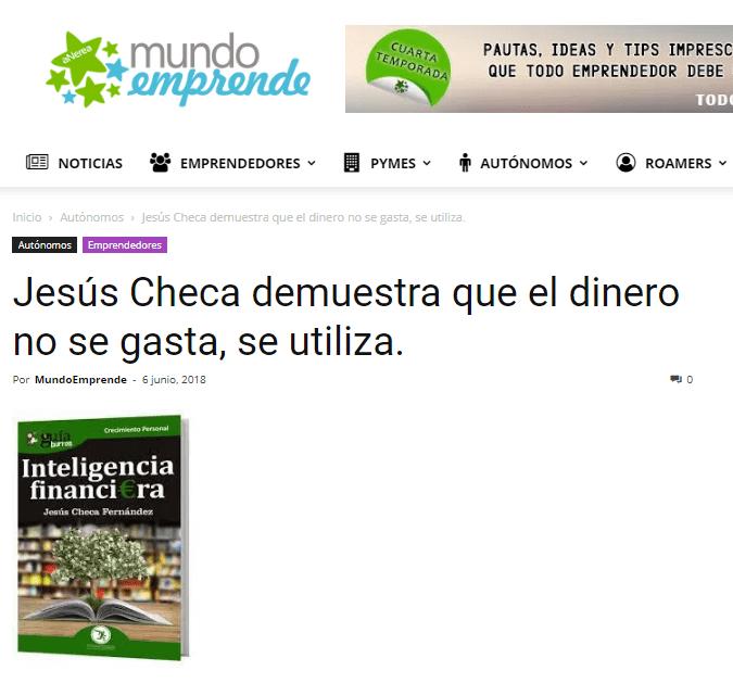 """""""GuíaBurros: Inteligencia Financiera"""" en Mundo Emprende."""
